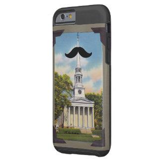 Caso del iphone 6 de Mustachias del santo Funda Resistente iPhone 6