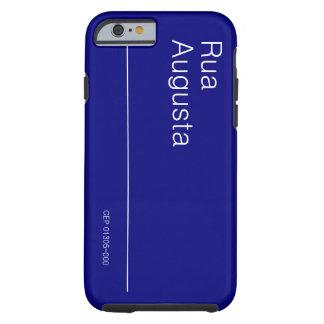 Caso del iPhone 6 de PLACA DA RUA AUGUSTA PARA Funda Resistente iPhone 6