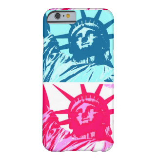 Caso del iPhone 6 de señora Liberty del arte pop Funda Barely There iPhone 6