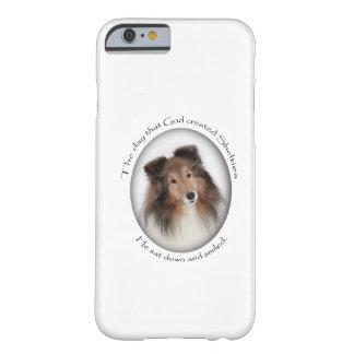 Caso del iPhone 6 de Sheltie Funda Barely There iPhone 6