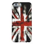 Caso del iPhone 6 de Union Jack del Grunge Funda De iPhone 6 Barely There