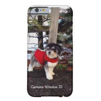 Caso del iPhone 6 de Winston III del carmín Funda Para iPhone 6 Barely There