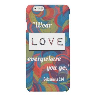 Caso del iPhone 6 del 3:14 de Colossians