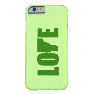 Caso del iPhone 6 del amor de Vermont Funda De iPhone 6 Barely There