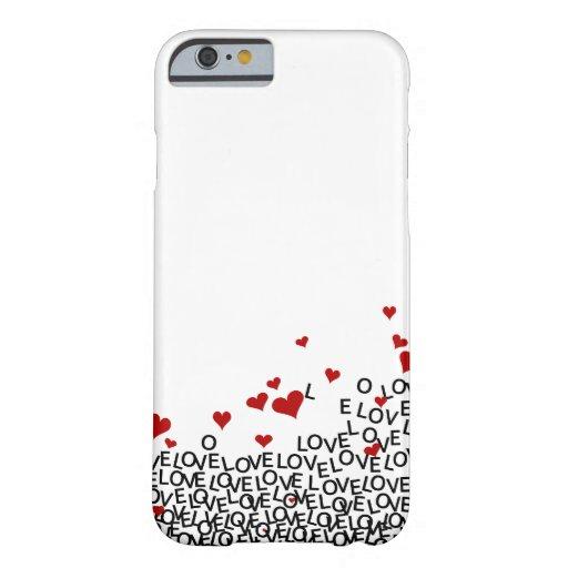 Caso del iPhone 6 del amor del el día de San Funda De iPhone 6 Barely There