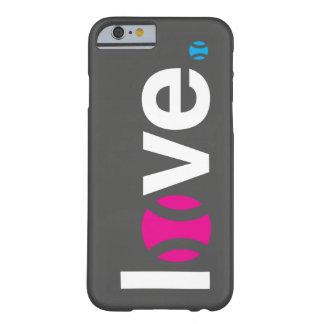Caso del iPhone 6 del amor del tenis Funda Barely There iPhone 6
