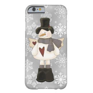 Caso del iPhone 6 del ángel del muñeco de nieve Funda Barely There iPhone 6