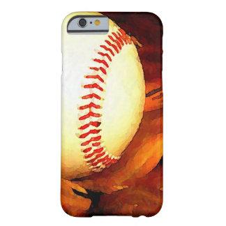 Caso del iPhone 6 del arte del béisbol Funda Barely There iPhone 6