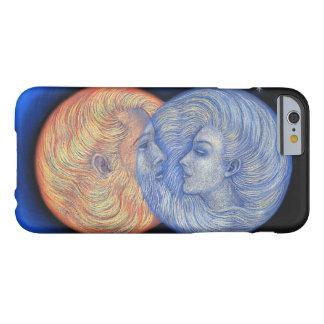 Caso del iPhone 6 del arte del eclipse solar, luna Funda Para iPhone 6 Barely There