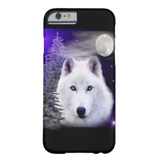Caso del iPhone 6 del arte del lobo Funda Barely There iPhone 6