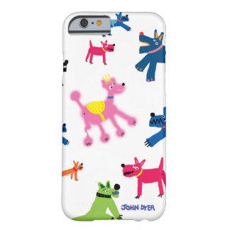 Caso del iPhone 6 del arte: Perros locos Funda De iPhone 6 Barely There