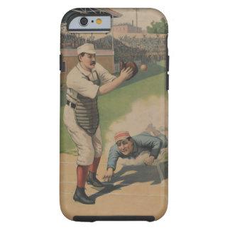 Caso del iPhone 6 del béisbol del vintage Funda De iPhone 6 Tough