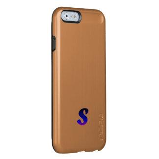 Caso del iPhone 6 del brillo del monograma de la Funda Para iPhone 6 Plus Incipio Feather Shine
