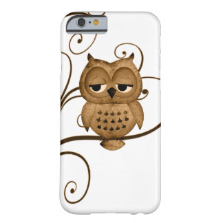 Caso del iPhone 6 del búho del árbol de Brown Funda De iPhone 6 Barely There