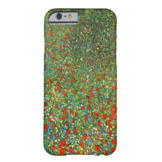 Caso del iPhone 6 del campo de la amapola de Funda De iPhone 6 Barely There