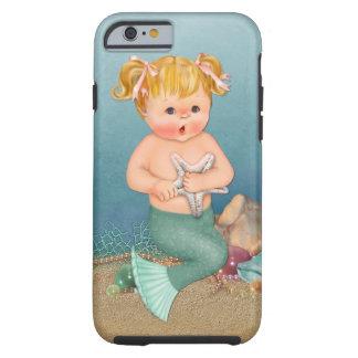 Caso del iPhone 6 del chica de little mermaid Funda De iPhone 6 Tough