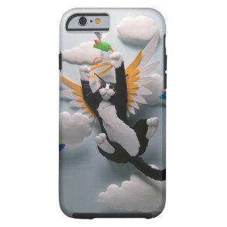 Caso del iPhone 6 del cielo del gato Funda Para iPhone 6 Tough