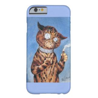 Caso del iPhone 6 del cigarro del gato del arte de Funda Para iPhone 6 Barely There