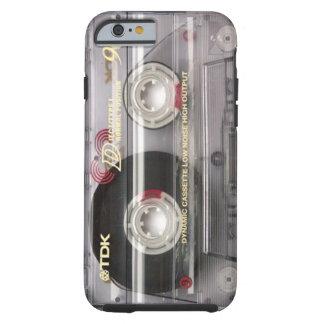 Caso del iPhone 6 del claro de la cinta de casete