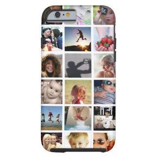 Caso del iPhone 6 del collage de la foto del Funda Resistente iPhone 6