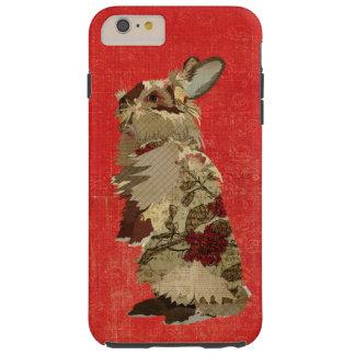 Caso del iPhone 6 del conejo del angora Funda Para iPhone 6 Plus Tough