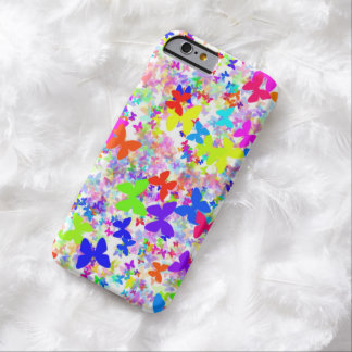 caso del iPhone 6 del confeti de la mariposa Funda De iPhone 6 Barely There