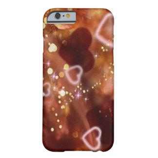 caso del iPhone 6 del corazón de oro Funda De iPhone 6 Slim