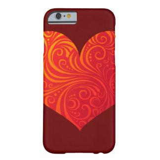 Caso del iPhone 6 del corazón de Swirly Funda Para iPhone 6 Barely There