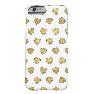 Caso del iPhone 6 del corazón del caramelo del Funda Para iPhone 6 Barely There