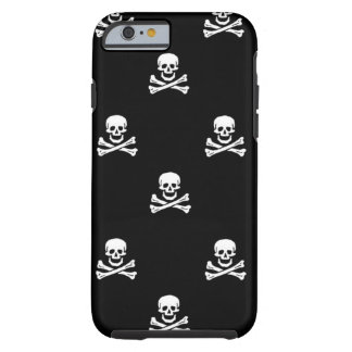 Caso del iPhone 6 del cráneo y de la bandera Funda De iPhone 6 Tough