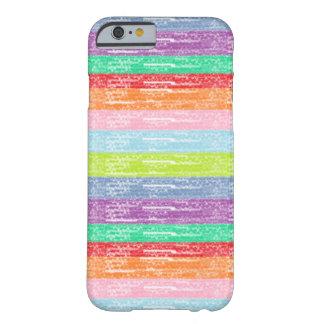 Caso del iPhone 6 del creyón de Rainbowly Funda Barely There iPhone 6