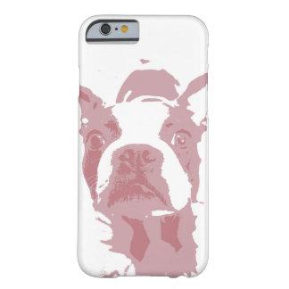 Caso del iPhone 6 del diseño de Boston Terrier Funda De iPhone 6 Barely There