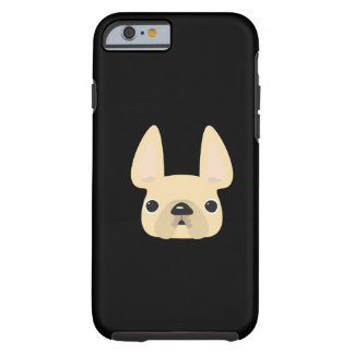 Caso del iPhone 6 del dogo francés Funda De iPhone 6 Tough