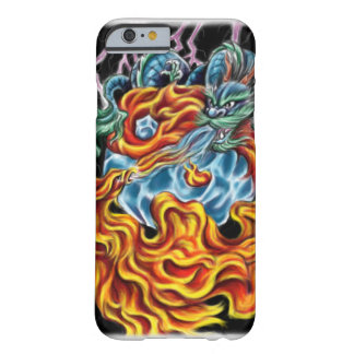 Caso del iPhone 6 del dragón y de Phoenix Funda De iPhone 6 Barely There