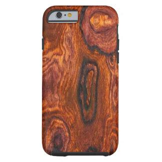 Caso del iPhone 6 del final de Cocobolo (madera) Funda De iPhone 6 Tough