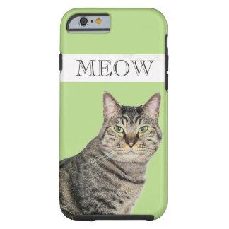 Caso del iPhone 6 del gato de Tabby del maullido, Funda Resistente iPhone 6
