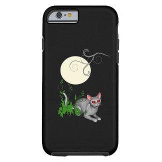 Caso del iPhone 6 del gato del gatito de la Luna Funda De iPhone 6 Tough