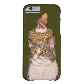 Caso del iPhone 6 del gato del vegano apenas allí Funda Barely There iPhone 6