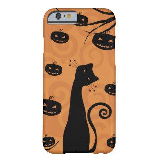Caso del iPhone 6 del gato negro Funda De iPhone 6 Barely There