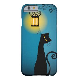 Caso del iPhone 6 del gato negro Funda Barely There iPhone 6