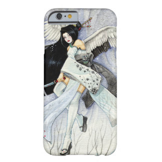 Caso del iPhone 6 del geisha de la nieve y de las Funda De iPhone 6 Barely There