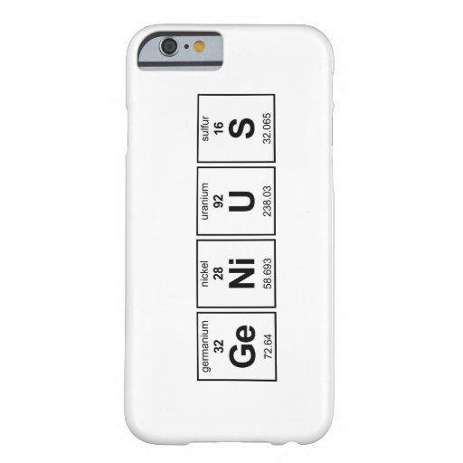 Caso del iPhone 6 del genio Funda Barely There iPhone 6