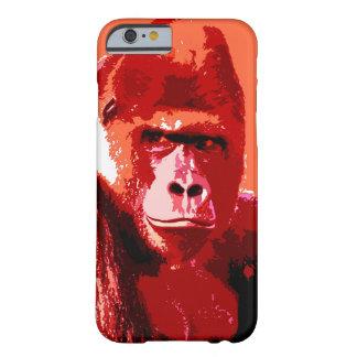 Caso del iPhone 6 del gorila del arte pop Funda De iPhone 6 Barely There
