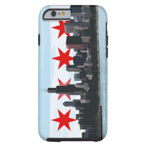 Caso del iPhone 6 del horizonte de la bandera de Funda De iPhone 6 Tough