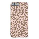 Caso del iPhone 6 del leopardo de los rosas bebés