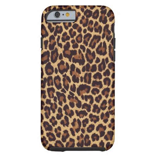 Caso del iPhone 6 del leopardo Funda De iPhone 6 Tough