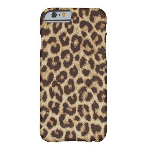 Caso del iPhone 6 del leopardo Funda De iPhone 6 Barely There