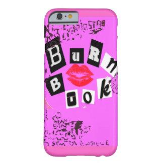 Caso del iPhone 6 del libro de la quemadura