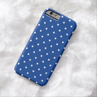caso del iPhone 6 del lunar del azul de cobalto Funda Barely There iPhone 6