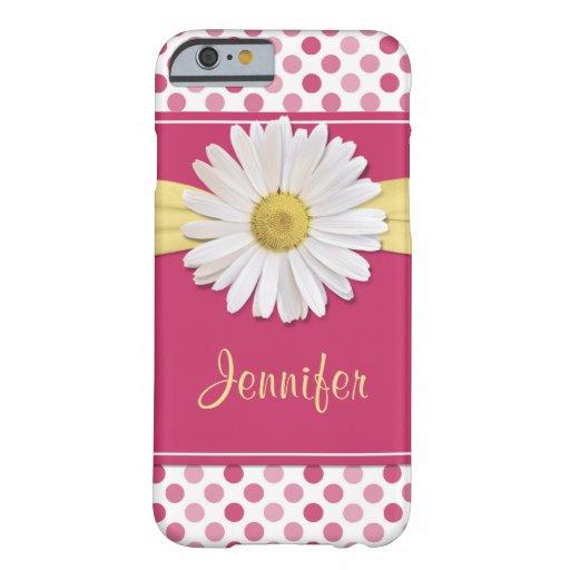 Caso del iPhone 6 del lunar del rosa de la Funda De iPhone 6 Barely There